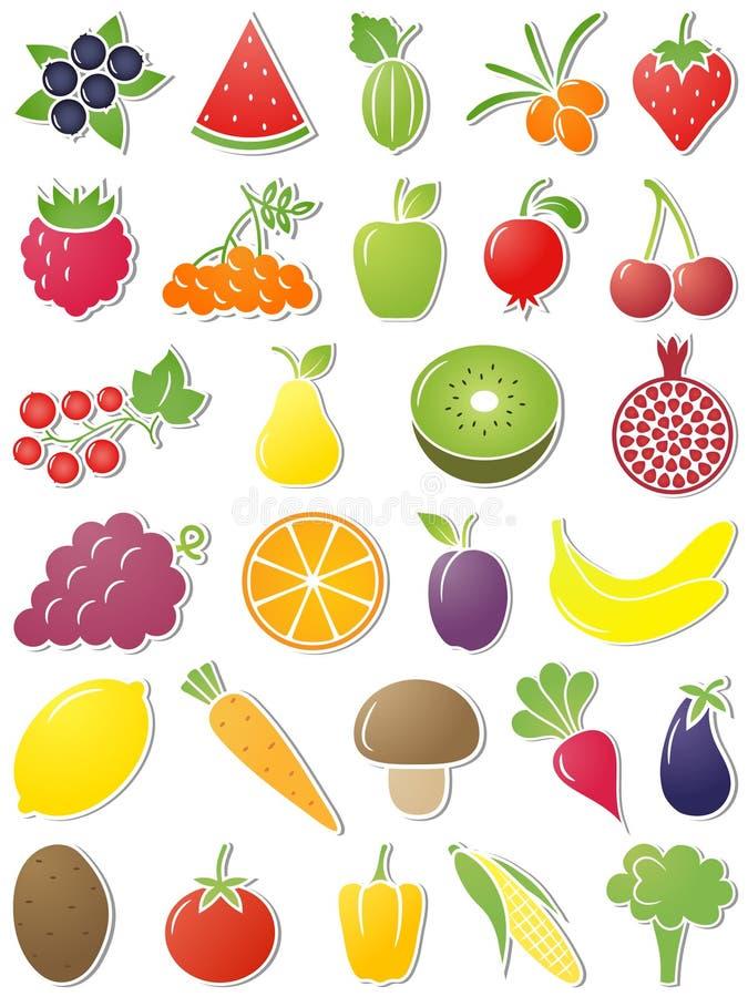 Iconos del alimento. ilustración del vector