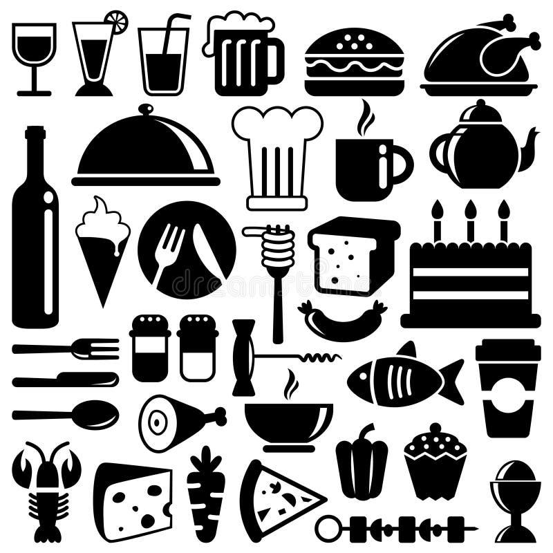 Iconos del alimento libre illustration