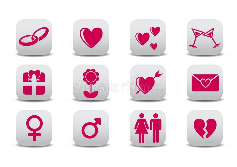 Iconos del amor libre illustration
