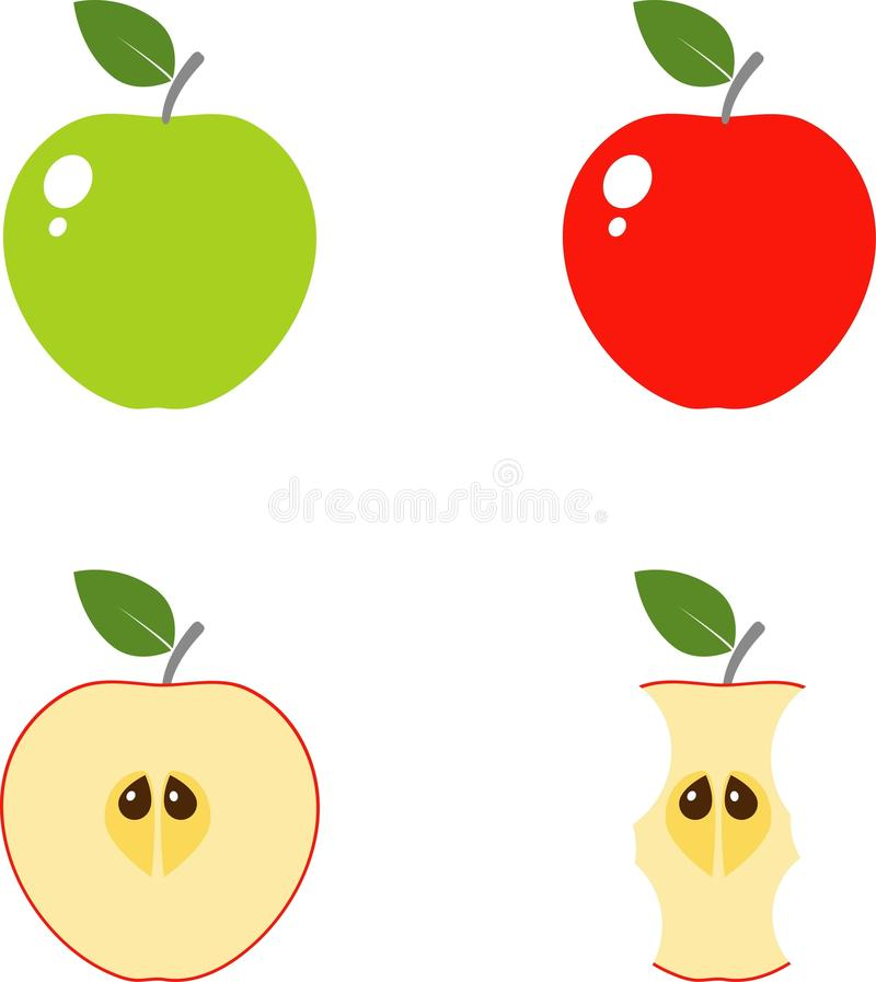 Iconos del Apple Computer stock de ilustración