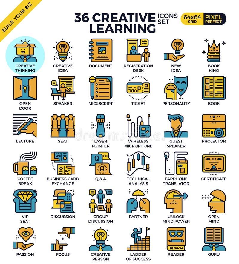 Iconos del aprendizaje creativo libre illustration