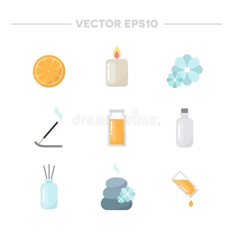 Iconos del Aromatherapy Ilustración del vector ilustración del vector