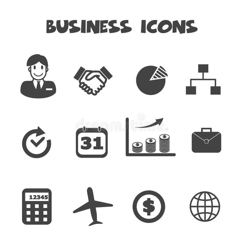 Iconos del asunto stock de ilustración