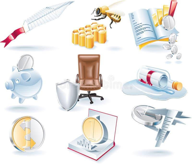 Iconos del asunto del vector fijados libre illustration