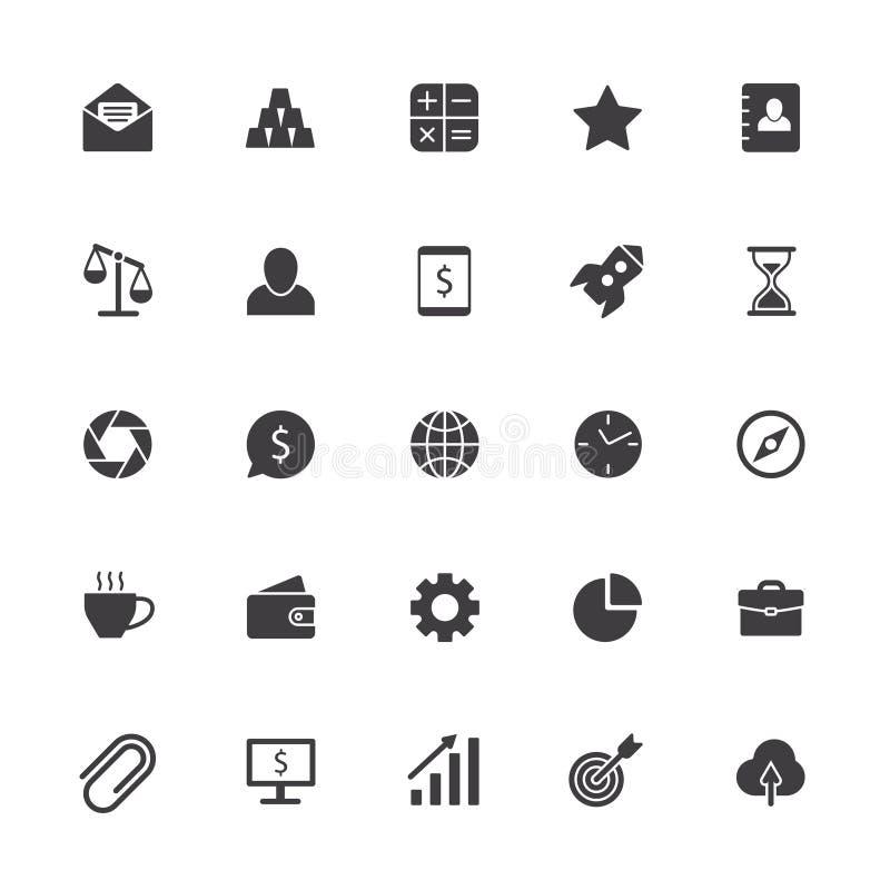 Iconos del asunto Muestra del trabajo en equipo de la oficina, símbolo de la colaboración del negocio y silueta aislada gestión d ilustración del vector