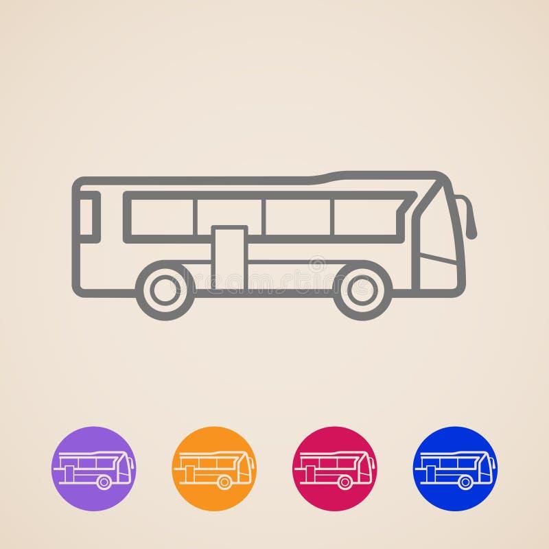 Iconos del autobús stock de ilustración
