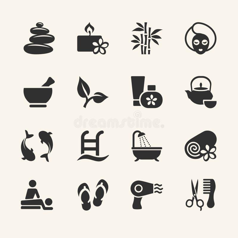 Iconos del balneario fijados libre illustration