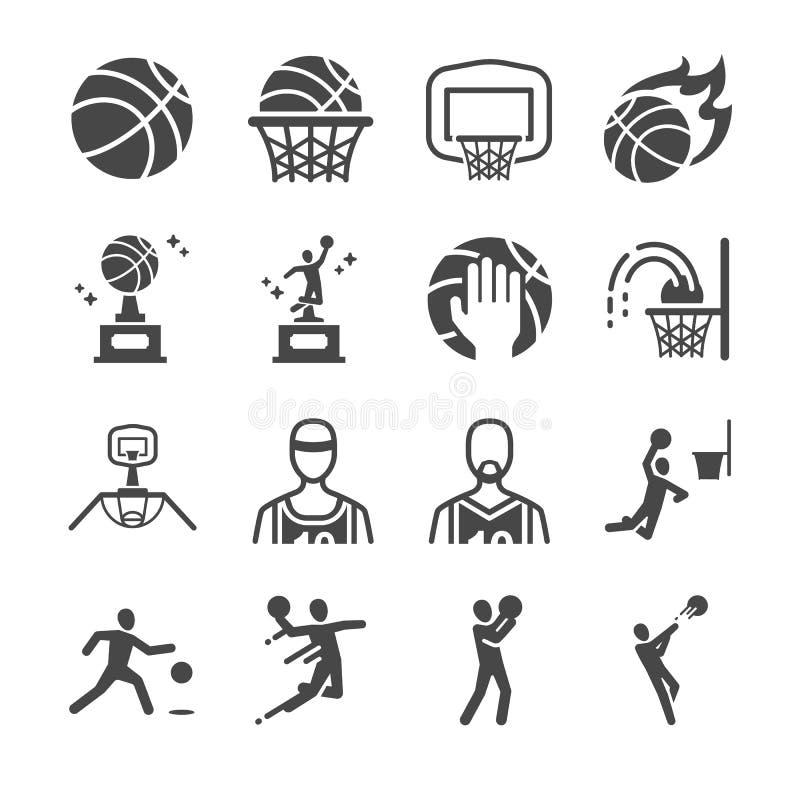 Iconos del baloncesto ilustración del vector