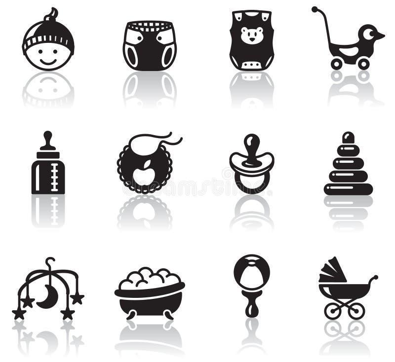 Iconos del bebé ilustración del vector