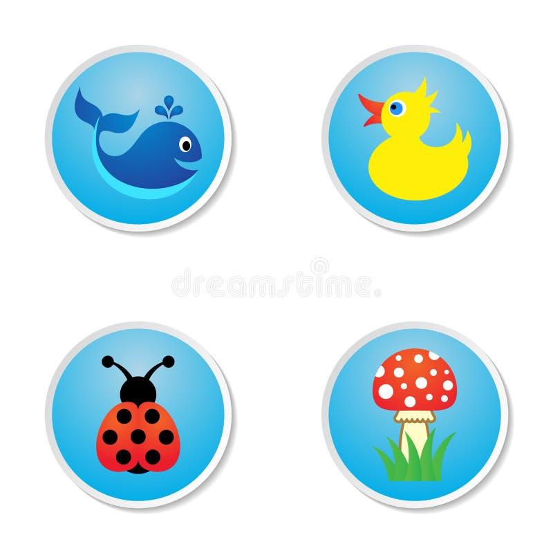 Iconos del bebé libre illustration