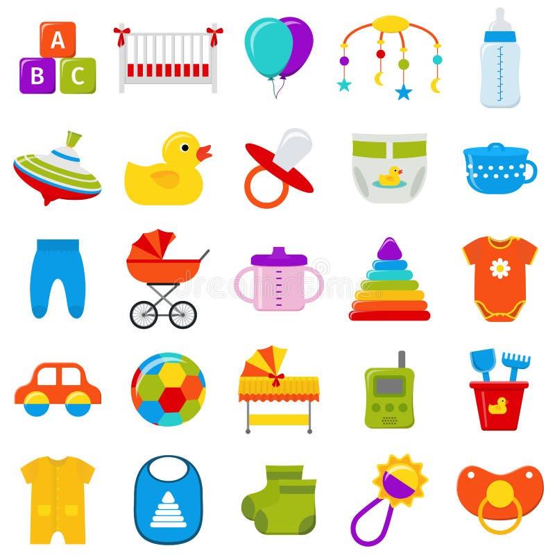 Iconos del bebé fijados Ilustración del vector libre illustration