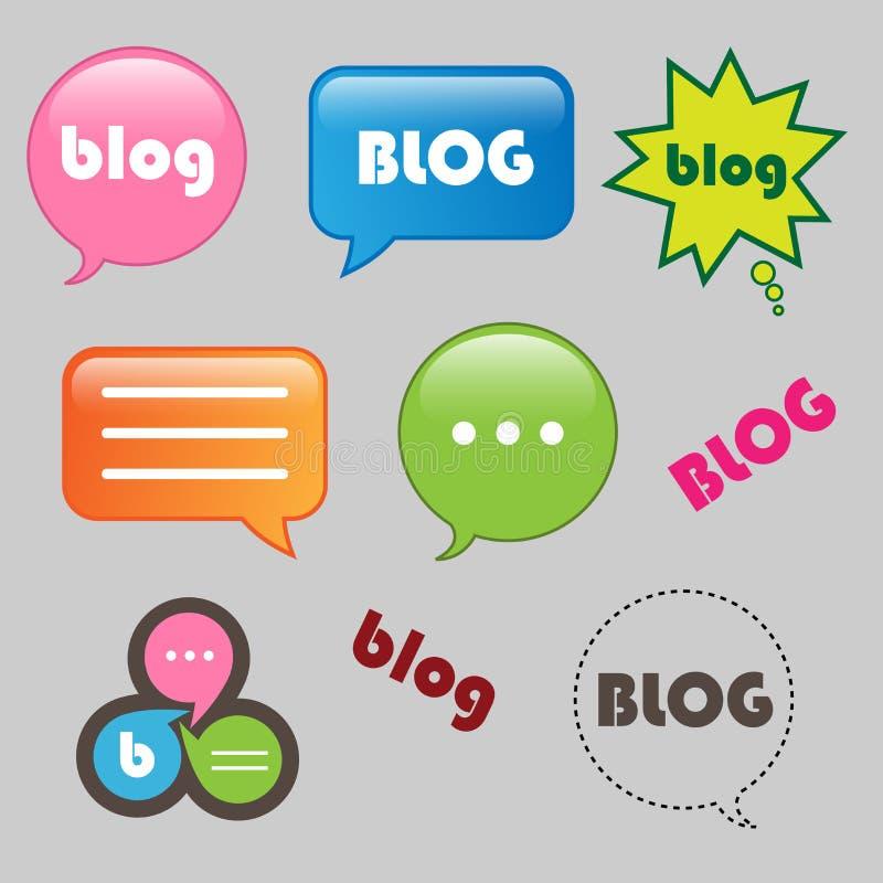 Iconos del blog stock de ilustración
