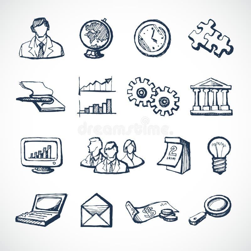 Iconos del bosquejo de Infographic stock de ilustración