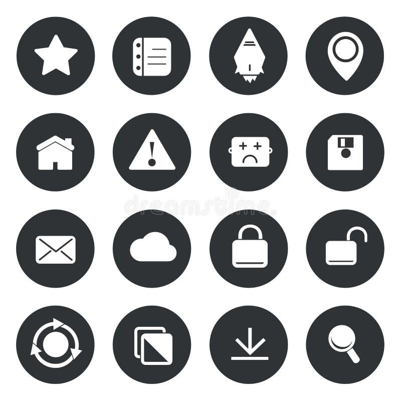 Iconos del círculo de la aplicación web libre illustration