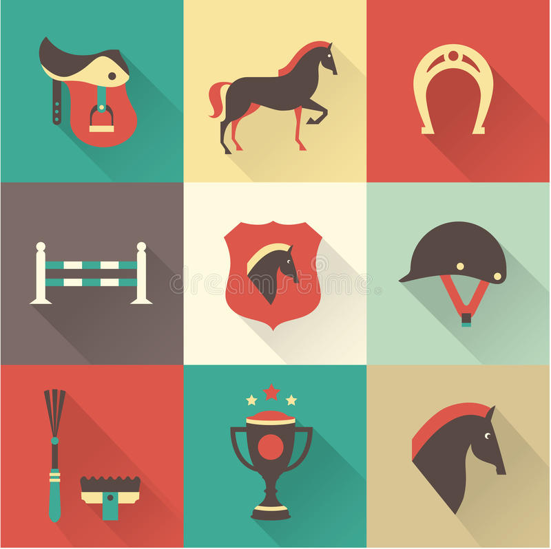 Iconos del caballo libre illustration