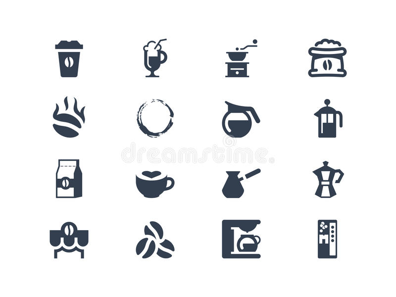 Iconos del café libre illustration