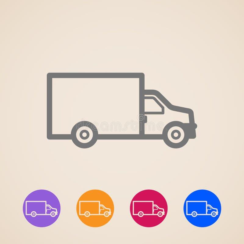 Iconos del camión de reparto ilustración del vector