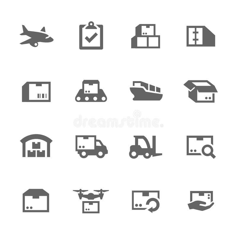 Iconos del cargo ilustración del vector