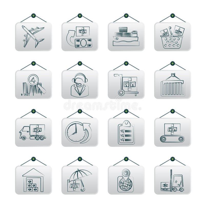 Iconos del cargo, logísticos y del envío libre illustration