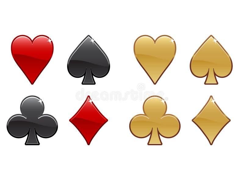 Iconos del casino ilustración del vector