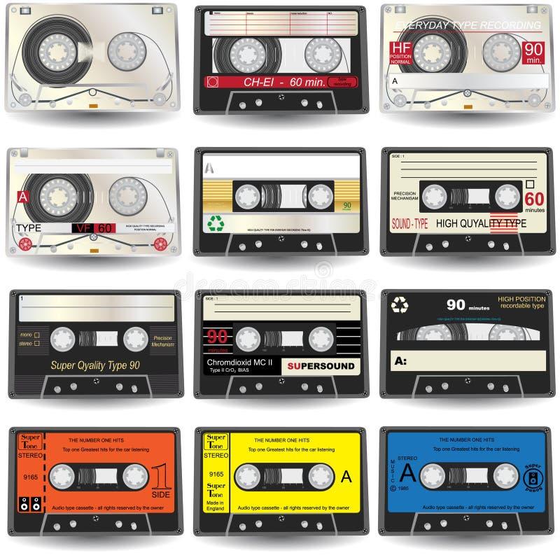 Iconos del cassette libre illustration
