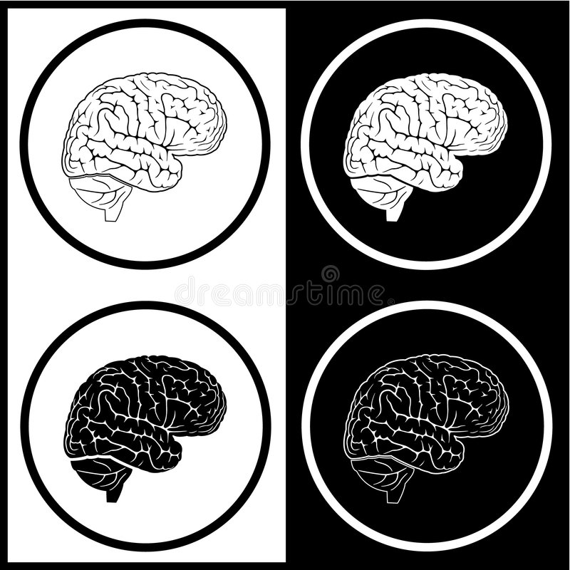 Iconos del cerebro del vector libre illustration