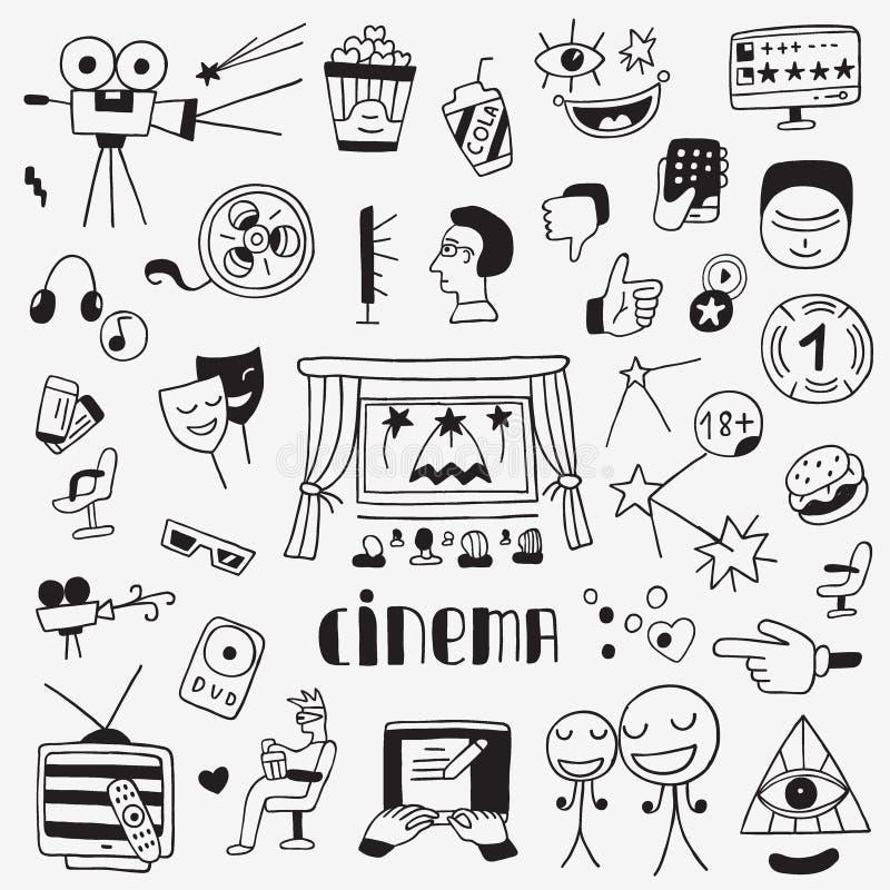 Iconos del cine fijados libre illustration