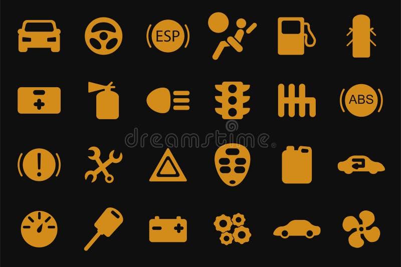 Iconos del coche del vector fijados libre illustration