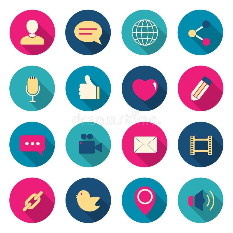 Iconos del color de la charla fijados libre illustration