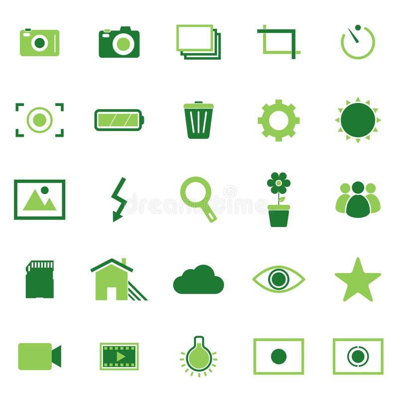 Iconos del color de la fotografía en el fondo blanco ilustración del vector