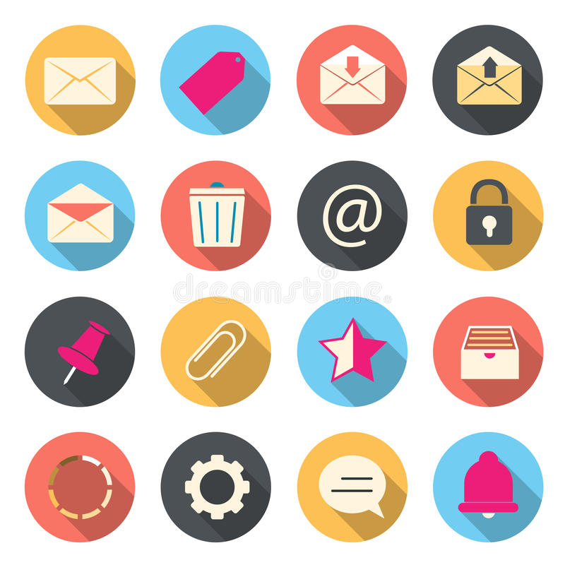 Iconos del color del correo electrónico libre illustration