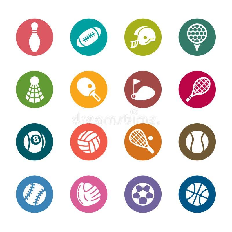 Iconos del color del deporte libre illustration