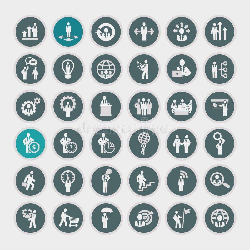 Iconos del concepto del negocio ilustración del vector