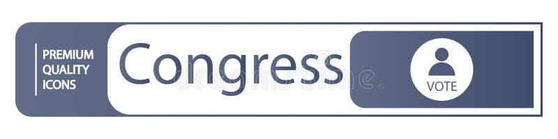 iconos del congreso del fondo stock de ilustración