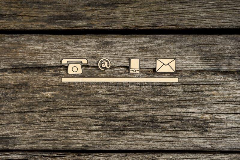 Iconos del contacto y de la comunicación foto de archivo libre de regalías