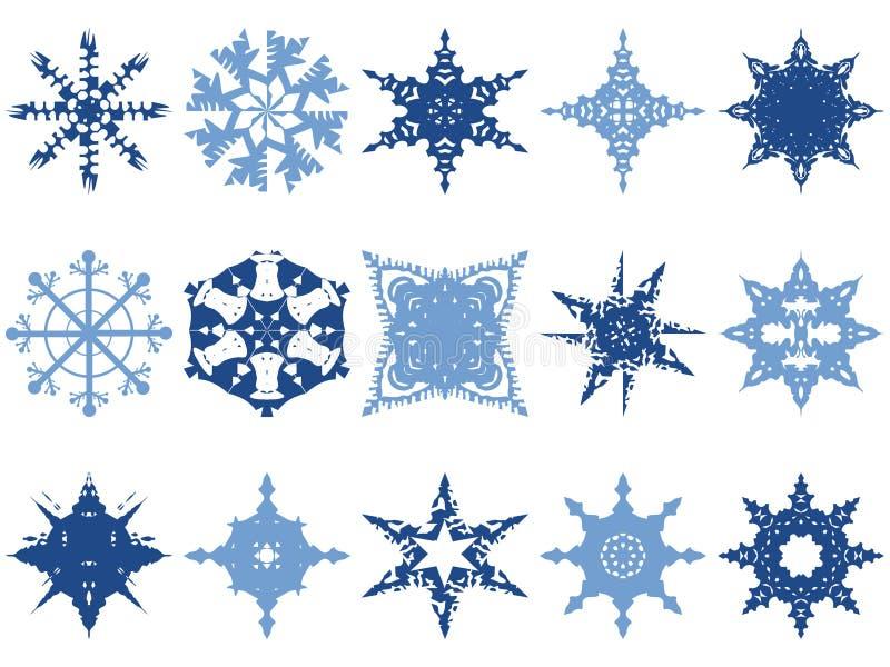Iconos del copo de nieve libre illustration