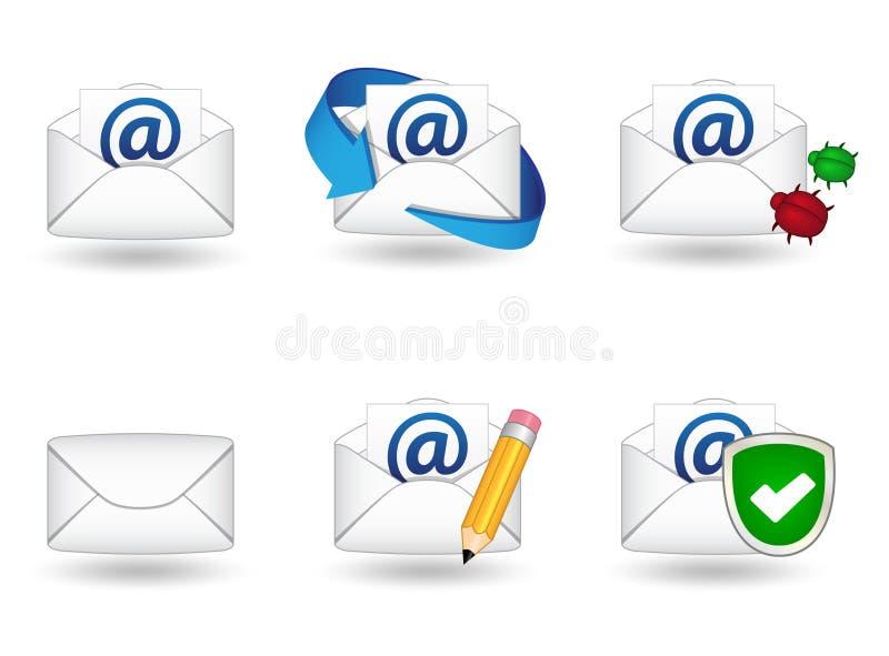 Iconos del correo fotos de archivo