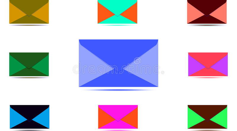 Iconos del correo electrónico y del teléfono fotografía de archivo libre de regalías