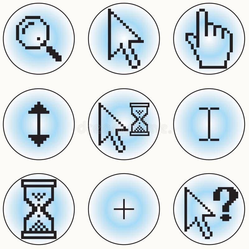 Iconos Del Cursor Del Ordenador Imagen de archivo libre de regalías