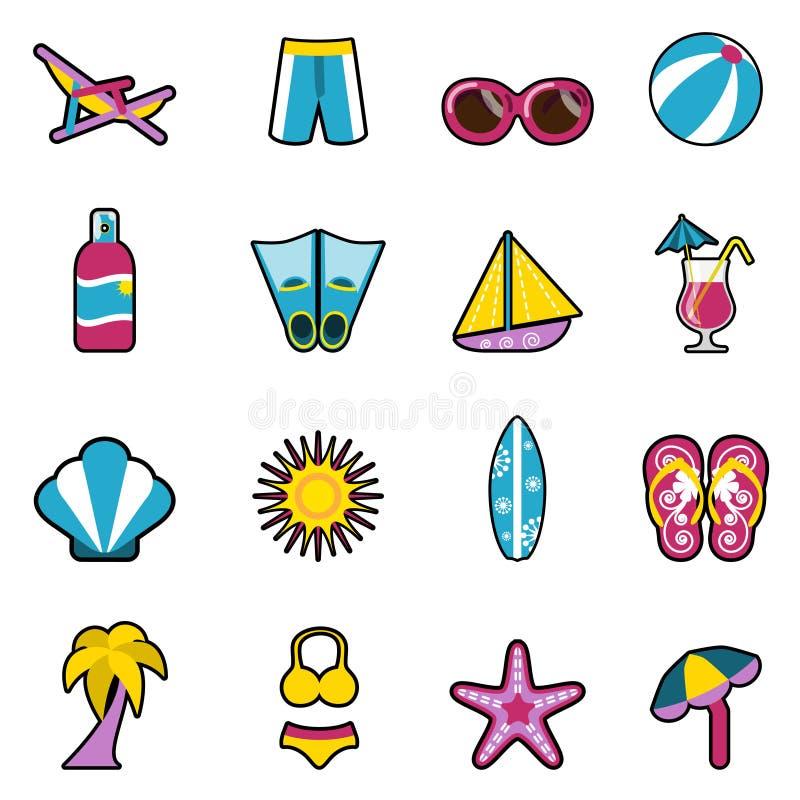 Iconos del día de fiesta libre illustration