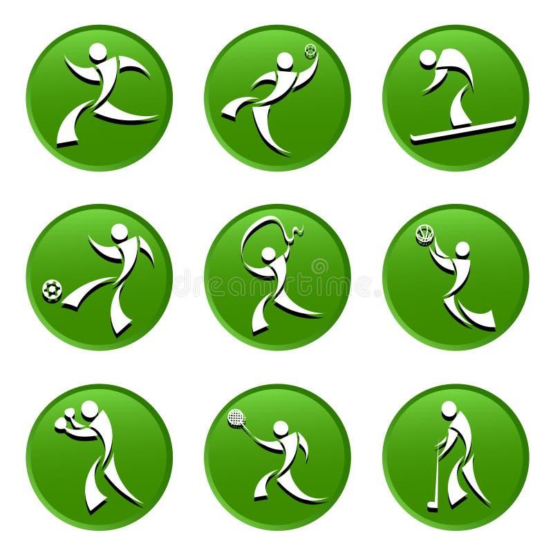 Iconos del deporte libre illustration