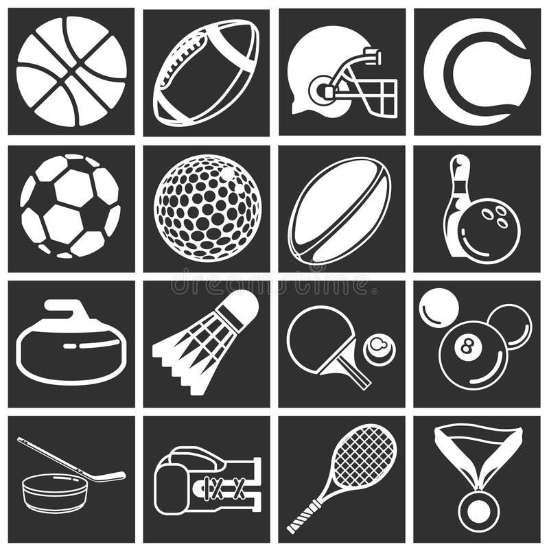 Iconos del deporte ilustración del vector
