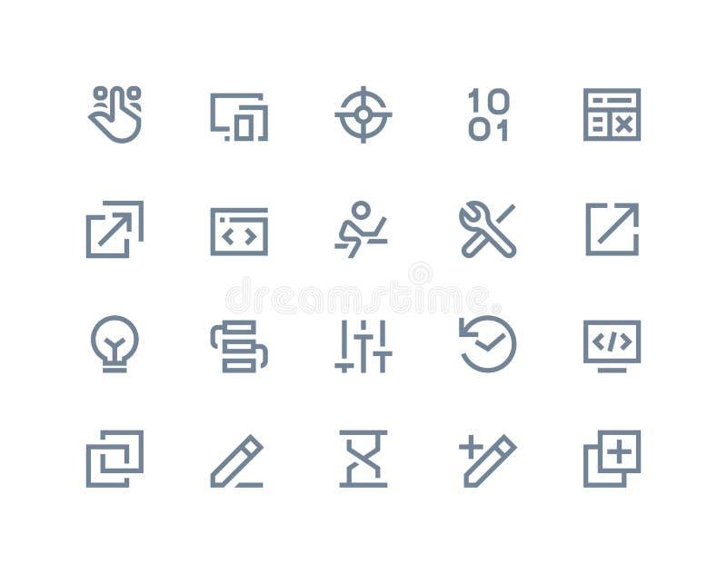 Iconos del desarrollador Línea serie libre illustration