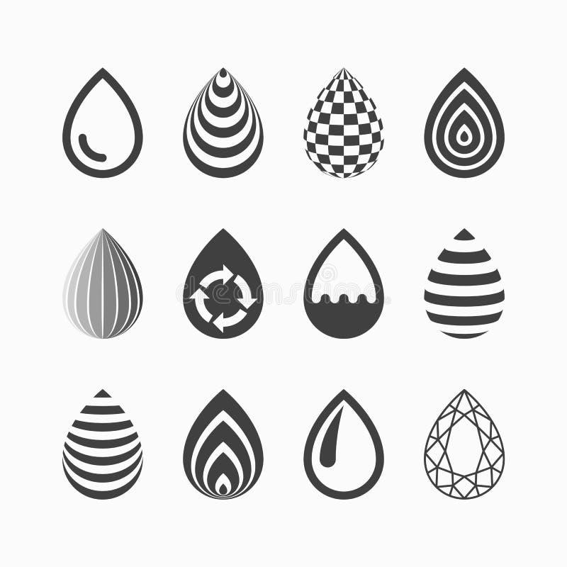Iconos del descenso ilustración del vector