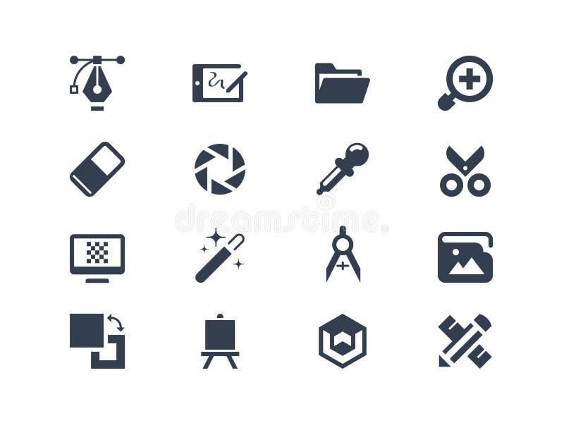 Iconos del diseño gráfico libre illustration