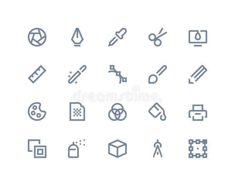 Iconos del diseño gráfico Línea serie libre illustration