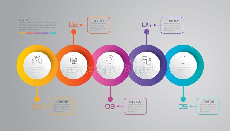 Iconos del diseño y del negocio de Infographic libre illustration