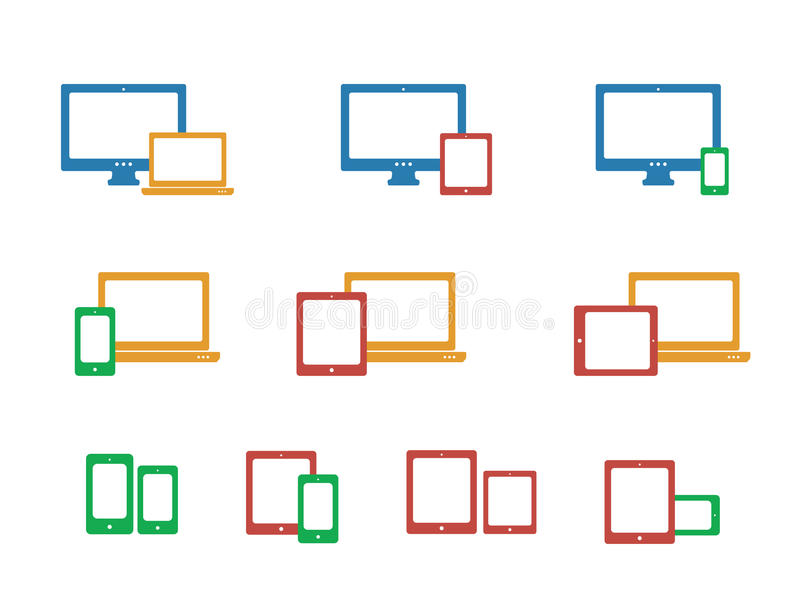 Iconos del dispositivo fijados libre illustration