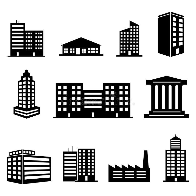 Iconos del edificio foto de archivo libre de regalías