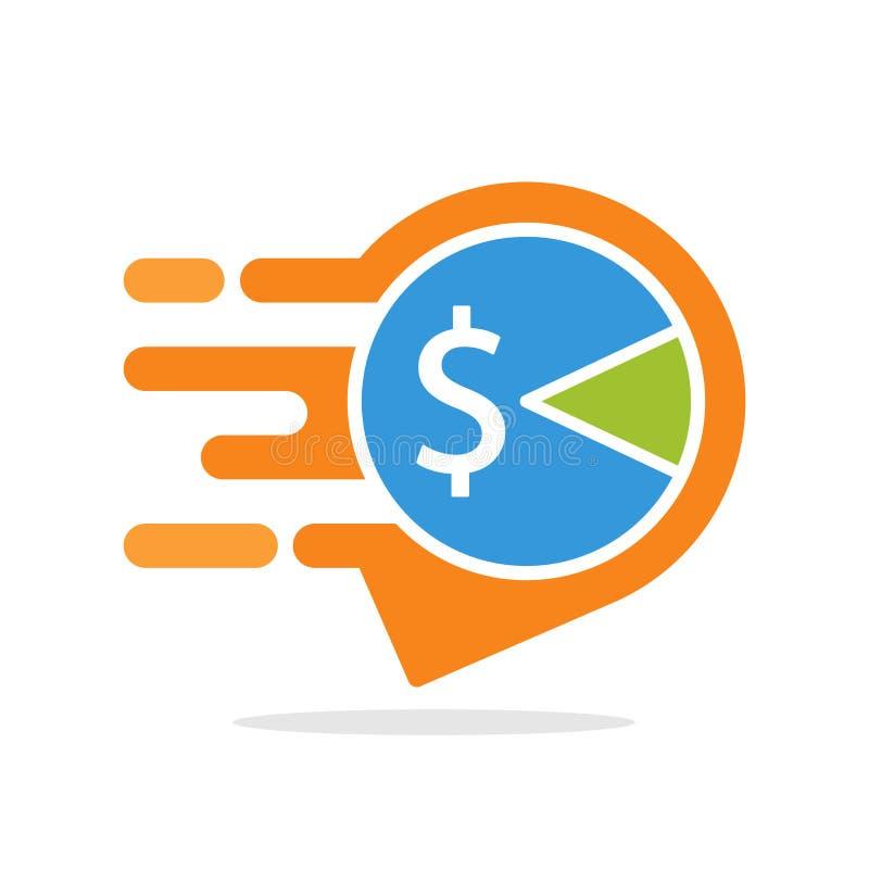 Iconos del ejemplo del vector con el concepto de servicio informativo y responsivo para tener acceso a la información fiscal basa stock de ilustración